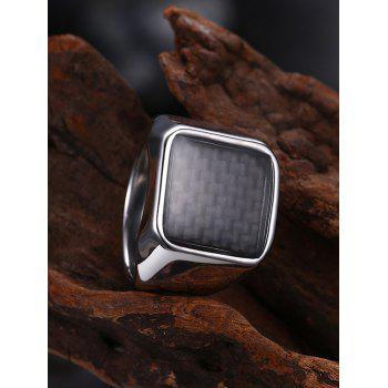 Antique Geometric Finger Ring - 7 7