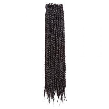 Three-strand Box Braids Long Synthetic Hair Weave -  BLACK