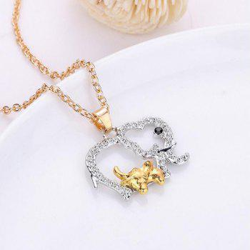 Alloy Hollow Out Elephant Pendant Necklace - SILVER SILVER