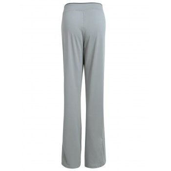 Wide Leg Cover Up Pants - GRAY L