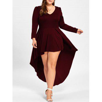 """<P>Plus Size V Neck Cocktail Dress</P><I Class=""""Icon Down Js Tap Up Down""""></I> by Dress Lily"""