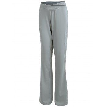 Wide Leg Cover Up Pants - GRAY GRAY
