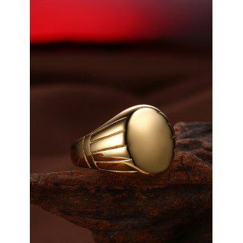 Oval Engraved Claw Pattern Finger Ring - GOLDEN 9