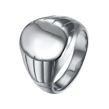 Oval Engraved Claw Pattern Finger Ring - SILVER 10