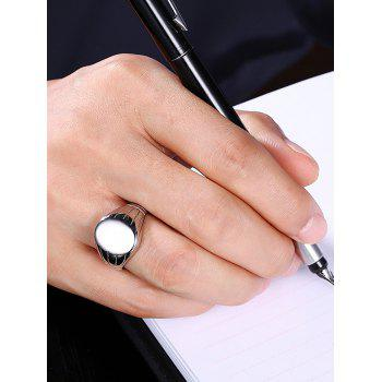 Oval Engraved Claw Pattern Finger Ring - SILVER 8