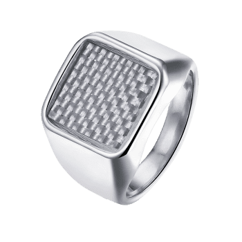 Antique Geometric Finger Ring - SILVER SILVER