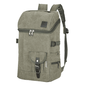Buckle Straps Zip Backpack - ARMY GREEN