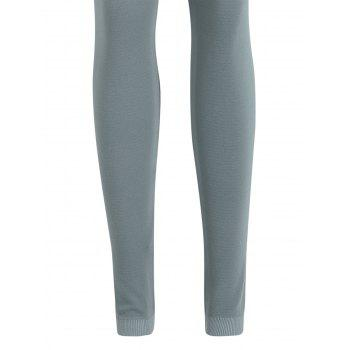 High Waisted Sport Leggings - SAGE GREEN ONE SIZE