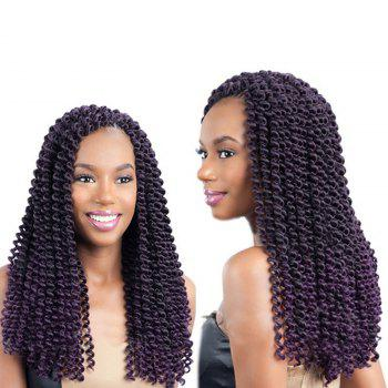 Long Synthetic Afro Kinky Braids Princess Curl Hair Weave - PURPLE PURPLE
