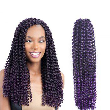 Long Synthetic Afro Kinky Braids Princess Curl Hair Weave -  PURPLE