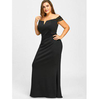 2018 Mermaid Off The Shoulder Formal Plus Size Dress BLACK XL In ...