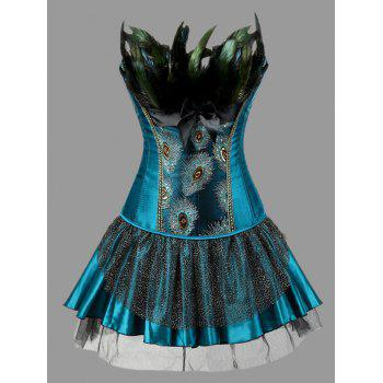 25 off 2020 plus size two piece corset dress with
