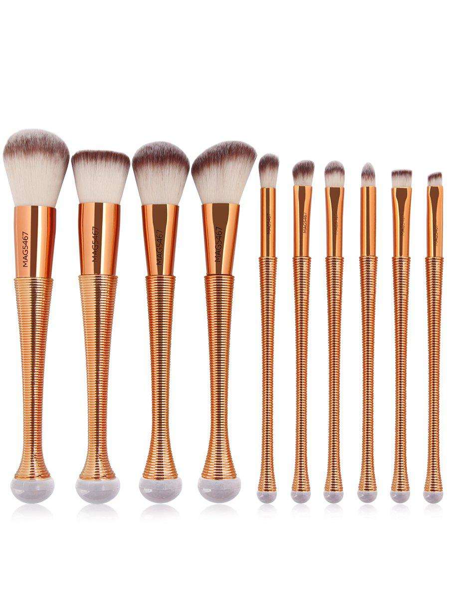 10 Pcs Ombre Color Multifunction Makeup Brushes Set - GOLDEN