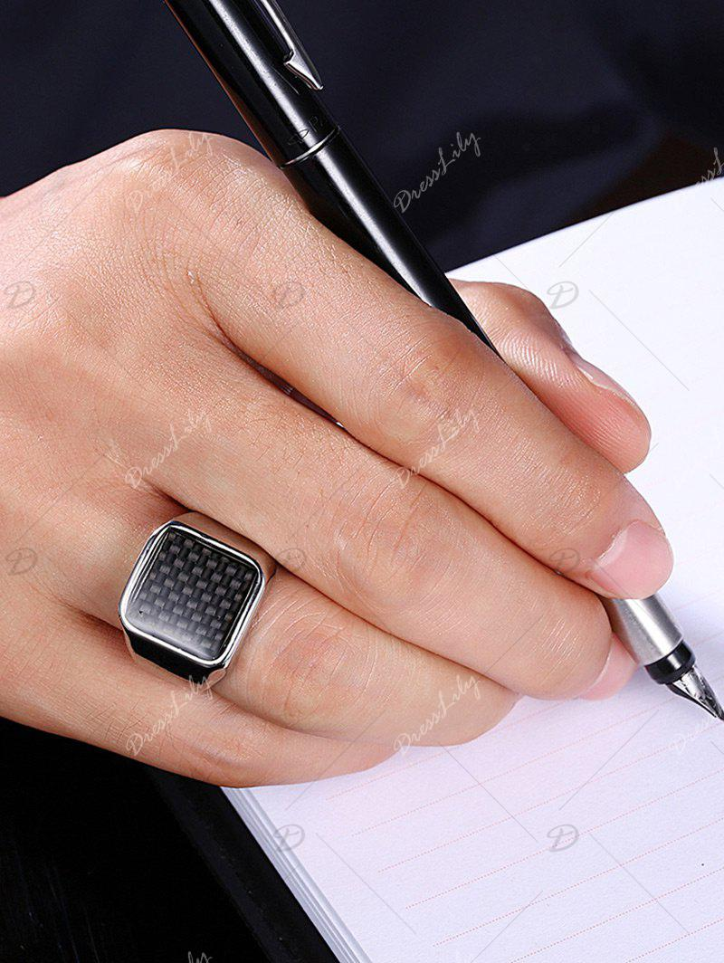 Antique Geometric Finger Ring - BLACK 9