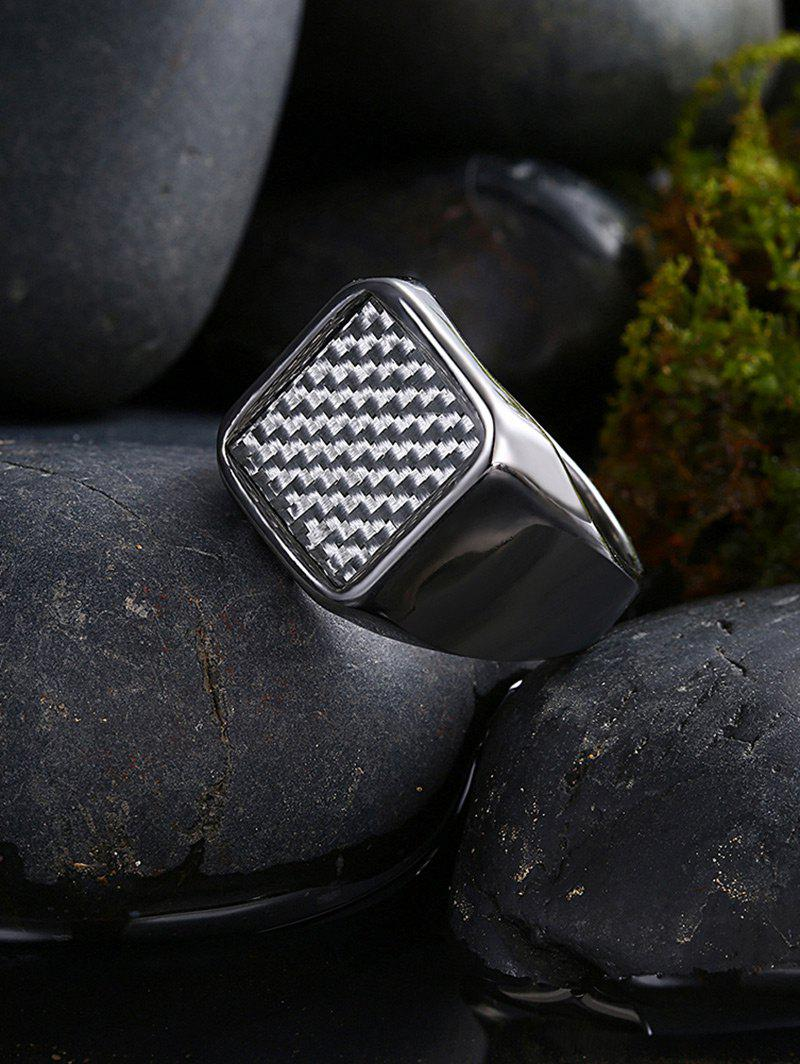 Antique Geometric Finger Ring - SILVER 10