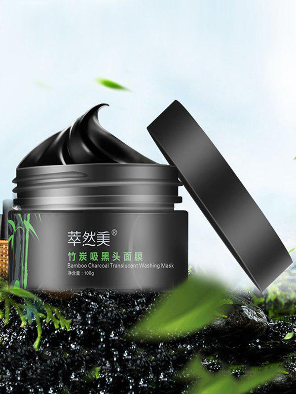 Bamboo Charcoal Translucent Washing Mask Removal Blackheads - BLACK