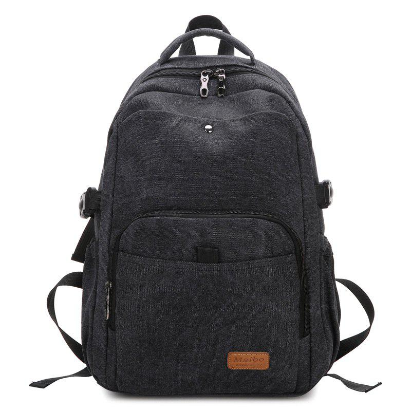 Sac à dos Rivet Buckle Strap School - Noir