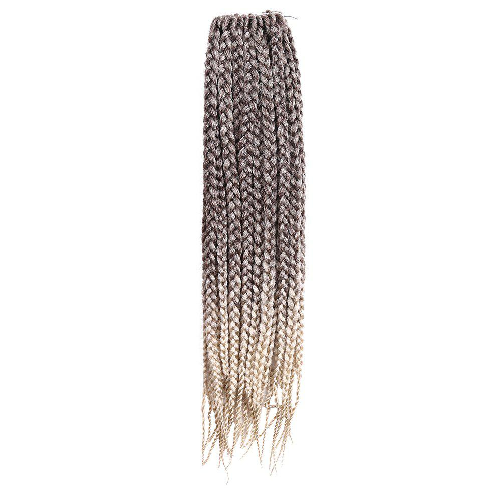 Three-strand Box Braids Long Synthetic Hair Weave - SUNFLOWER