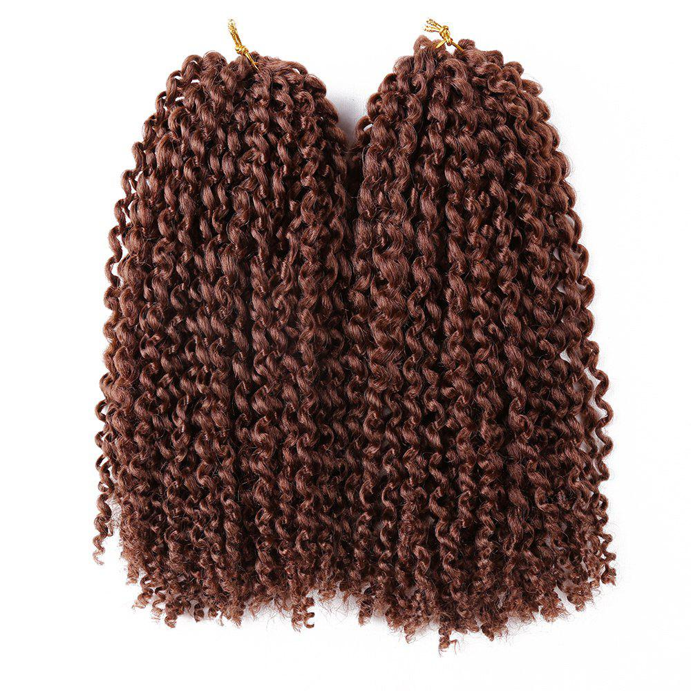 2Pcs Short Twisted Mali Bob Crochet Braids Synthetic Hair Weaves - DARK AUBURN