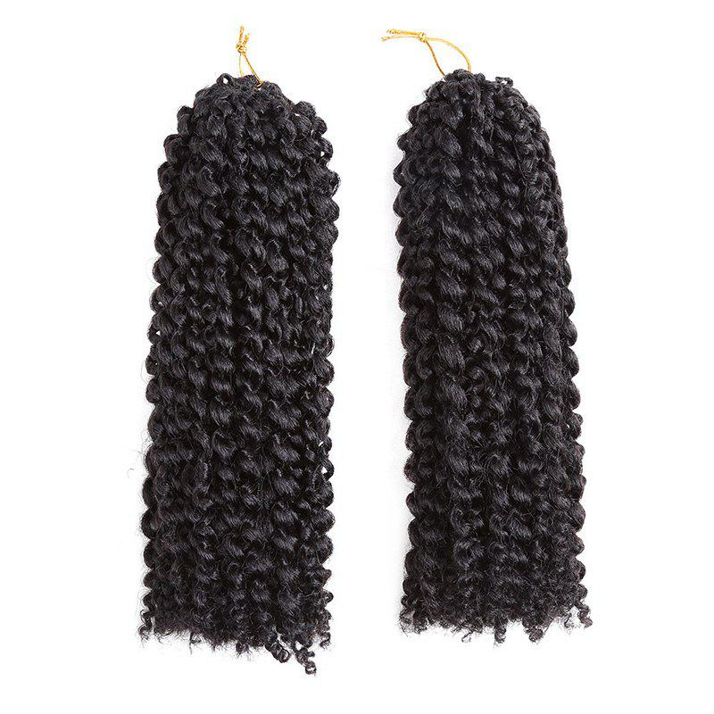 2Pcs Short Twisted Mali Bob Crochet Braids Synthetic Hair Weaves - BLACK