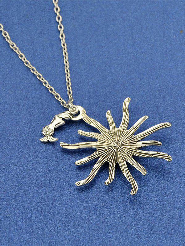 Sunflower Fish Scales Alloy Necklace - PINK