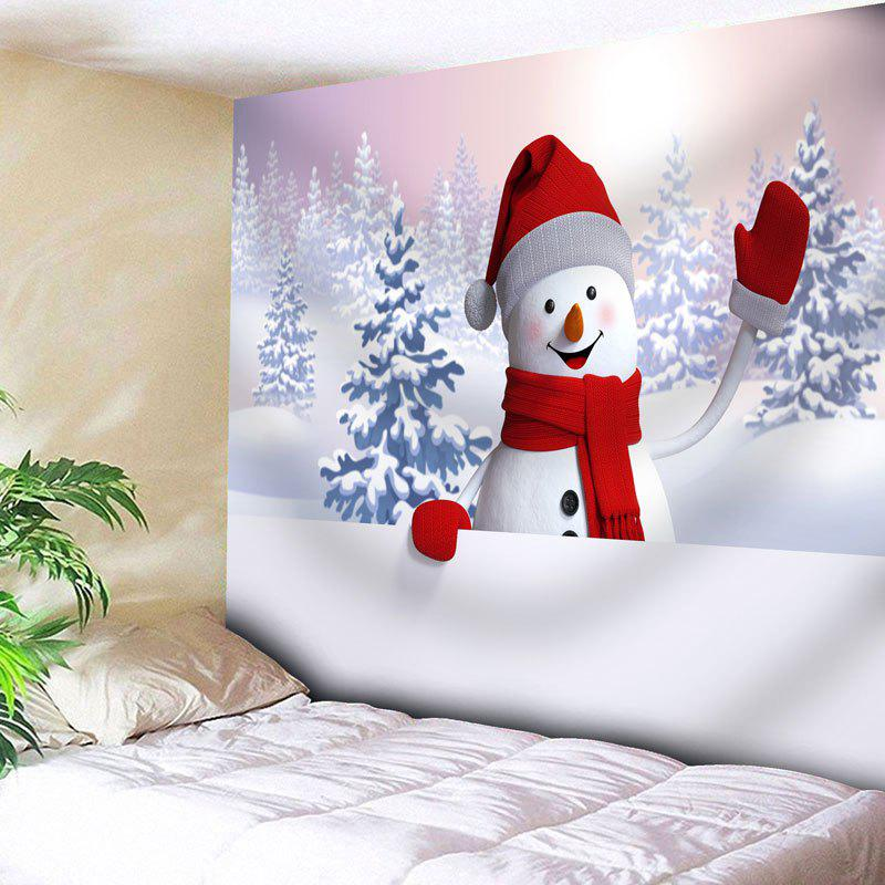 Snowman Snowscape Printed Wall Tapestry christmas gift snowman snowscape print wall tapestry