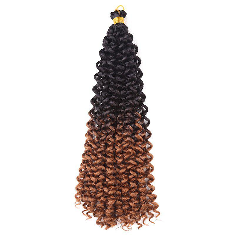 Medium Fluffy Synthetic Pre Twisted Flashy Curl Braids Hair Weave - brun foncé