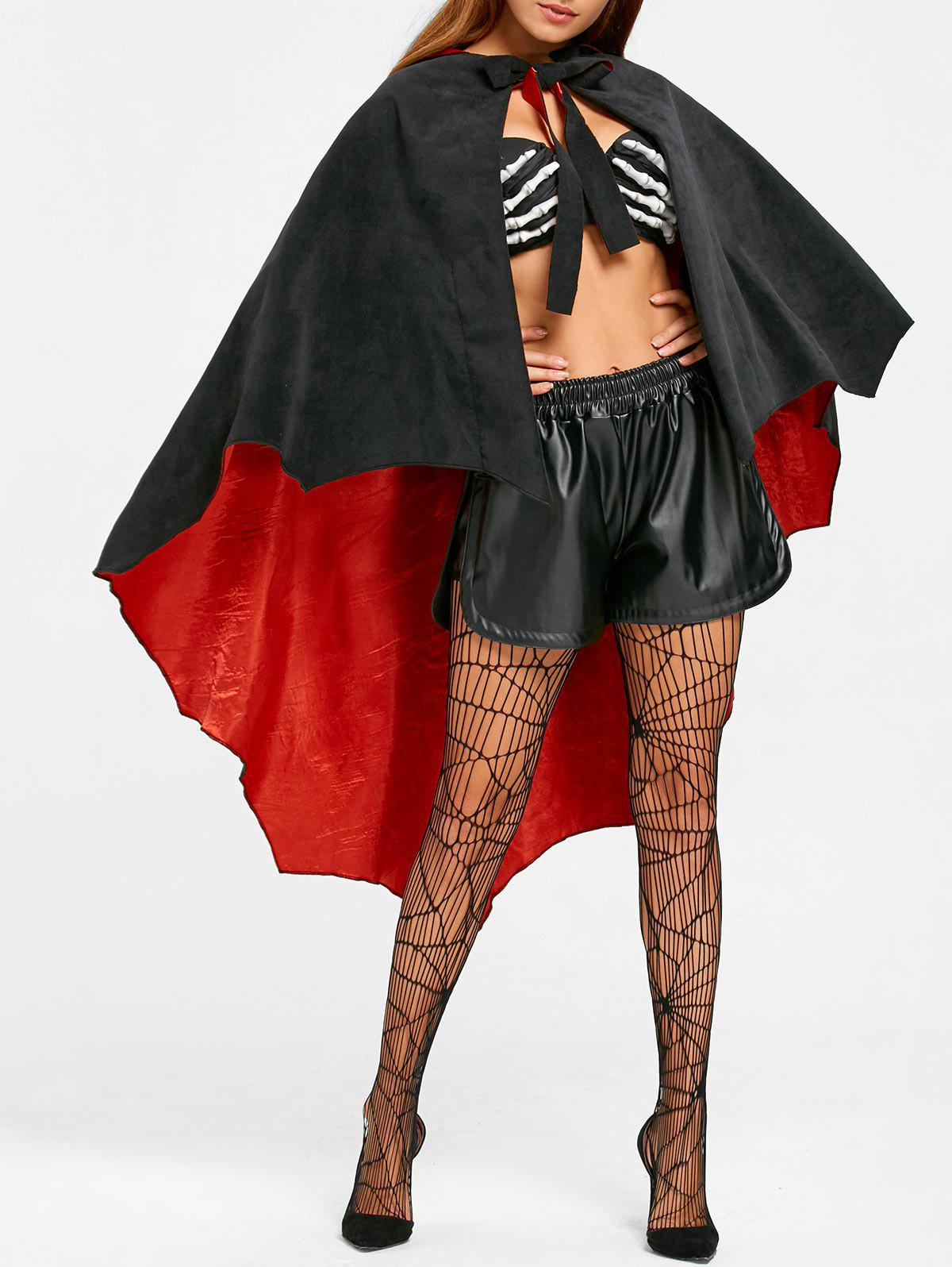 Cape Costume à capuche Halloween - Noir ONE SIZE