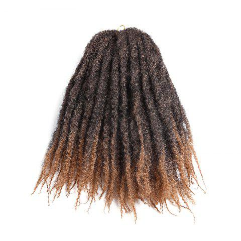 Long Bouffant Afro Kinky Curly Braids Synthetic Hair Weave - GRADUAL BROWN