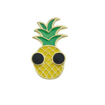 Funny Fruit Pineapple Brooch - YELLOW YELLOW