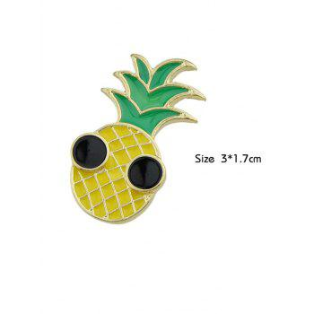 Funny Fruit Pineapple Brooch - YELLOW