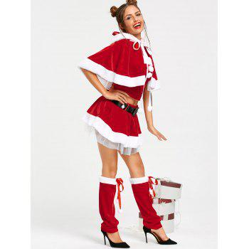 Velvet Skirted Santa Claus Christmas Costume - ONE SIZE ONE SIZE