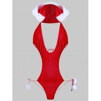 Hooded Plunge Christmas Teddy Costume