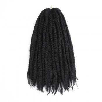 Long Bouffant Afro Kinky Curly Braids Synthetic Hair Weave - BLACK