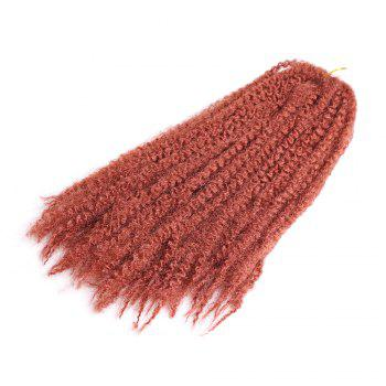 Long Bouffant Afro Kinky Curly Braids Synthetic Hair Weave - RED RED