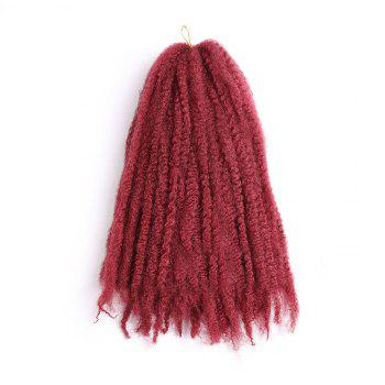 Long Bouffant Afro Kinky Curly Braids Synthetic Hair Weave -  WINE RED