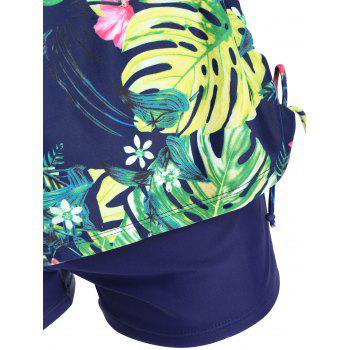 Tropical Print Plus Size Tankini Set - 3XL 3XL