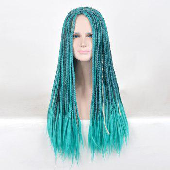 Long Middle Part Braids Descendants 2 Uma Cosplay Synthetic Wig - BLUE BLUE