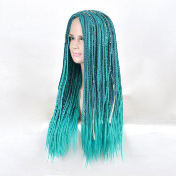 Long Middle Part Braids Descendants 2 Uma Cosplay Synthetic Wig -  BLUE