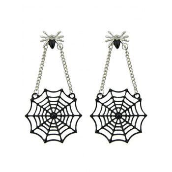 Spider Web Stud Drop Earrings