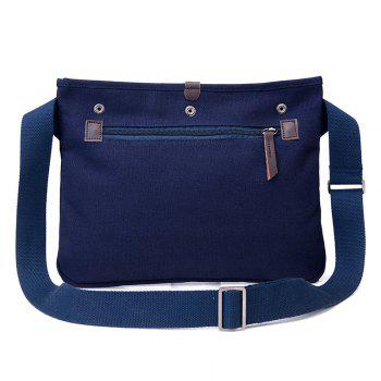 Canvas Studs Crossbody Bag - Bleu