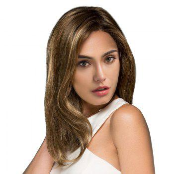 Medium Side Parting Straight Colormix Synthetic Wig -  COLORMIX