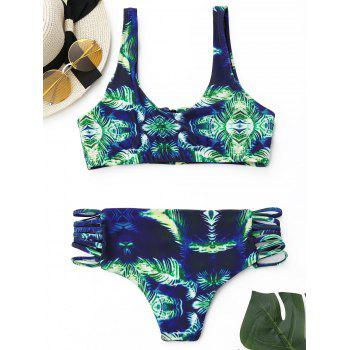 Bralette Bikini Set with Zipper - M M