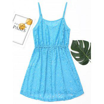 Lace Cami Cover Up Dress - BLUE M