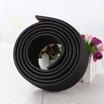 2M Baby Table Protector Flexible Foam Rubber Guard Strip - BLACK BLACK