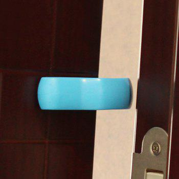 U Shape Baby Safety Gate Card Security Door Stopper Clip - BLUE BLUE