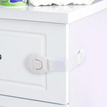 Baby Safety Lock Latch For Cabinet Drawer Cupboard Fridge - WHITE