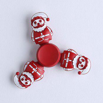 Tri-bar Christmas Snowman Metal Fidget Spinner - RED 7.5*75*1.3CM