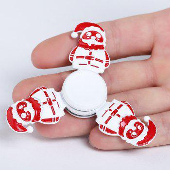 Tri-bar Christmas Snowman Metal Fidget Spinner - WHITE WHITE