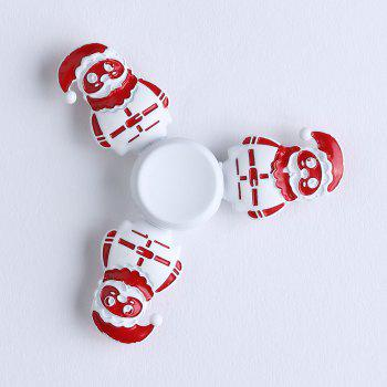 Tri-bar Christmas Snowman Metal Fidget Spinner - WHITE 7.5*75*1.3CM